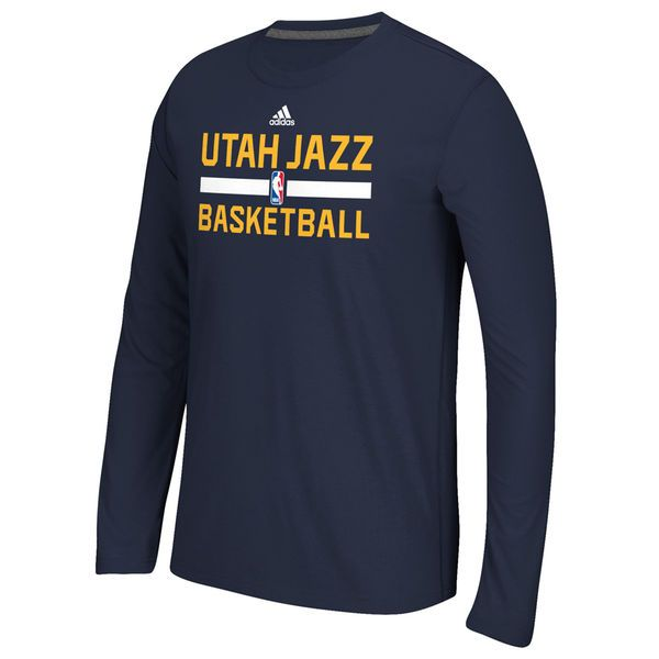 0f76cd8e1b Utah Jazz adidas Youth Practice ClimaLITE Long Sleeve T-Shirt - Navy Blue -   24.99