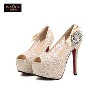 2015 новое поступление лето в стиле секси высокие каблуки платформы пальца ноги щели обувь женщины туфли на высоком каблуке ночной клуб сандалии абрикос и розовый размер 35-39
