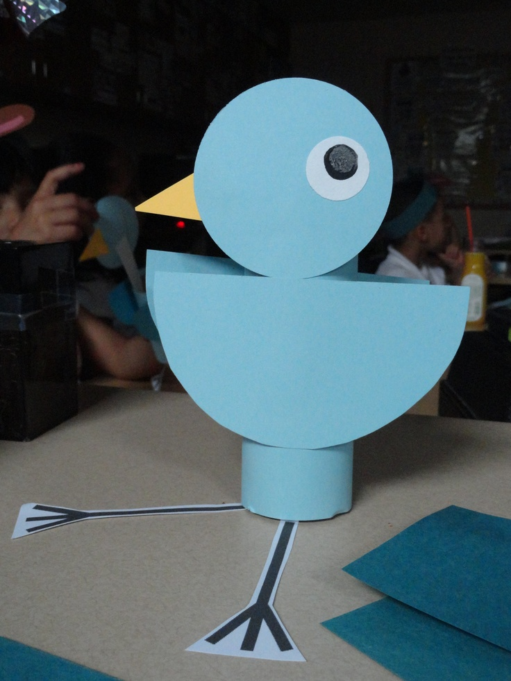 First Pinterest project ever!!! Toilet Paper roll Pigeon!