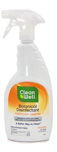 Top Eco-Friendly Bathroom Cleaners: Clean Well Botanical Disinfectant Bathroom Cleaner