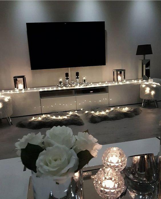 25 Gemütliche Lichterketten Ideen Für Wohnzimmer