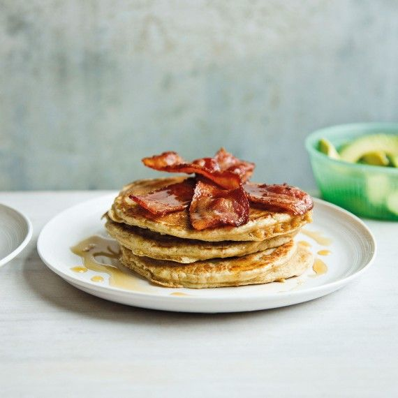 Dairy Free Spelt Pancakes with Bacon and Avocado - Woman And Home
