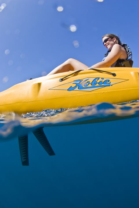 Hobie MirageDrive propulsion system. If you've never tried pedaling a Hobie kayak, you should. It's fast, fun and efficient!