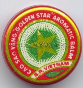 Vietnam Cao Sao Vang Golden Star aromatic balm