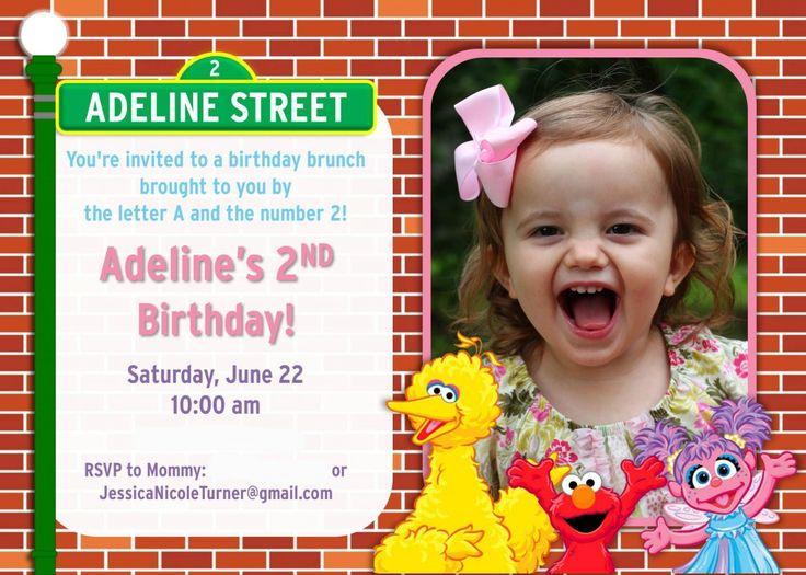 best 25+ sesame street invitations ideas on pinterest   sesame, Birthday invitations