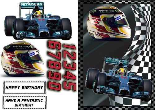 Formula 1 Mercedes Lewis Hamilton by Scrimpy Crafters  2017 Great card for any fan of Lewis Hamilton