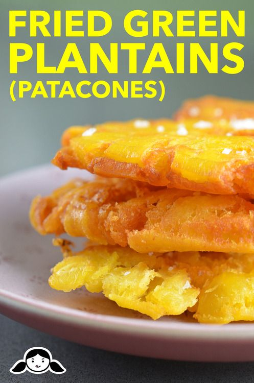 Fried Green Plantains (Patacones or Tostones) by Michelle ...