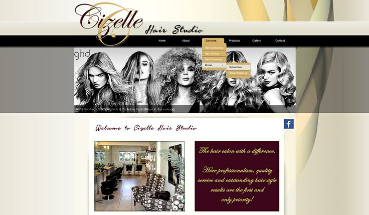 WEBSITE DESIGN for Cizelle Hair Studio created by Design so Fine