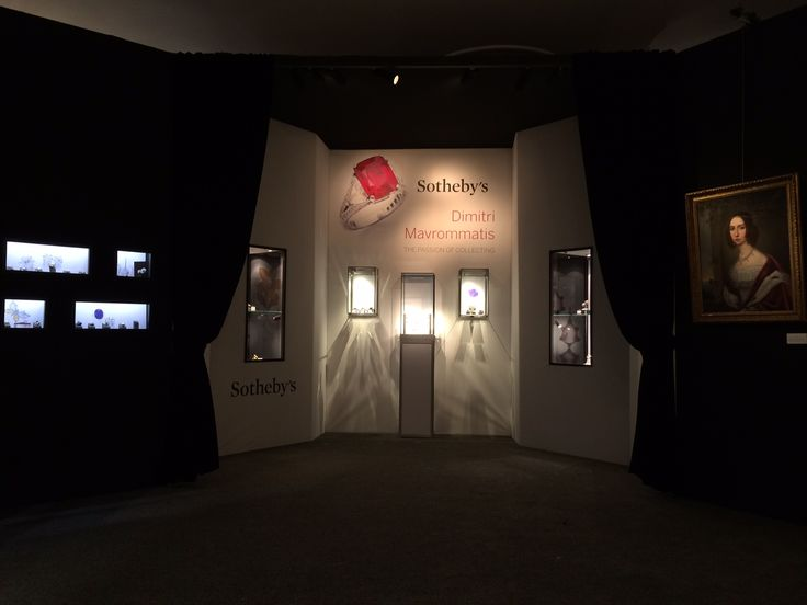 Sotheby's Geneva Magnificent Jewels exhibition 2014 designed and built by 4D Projects