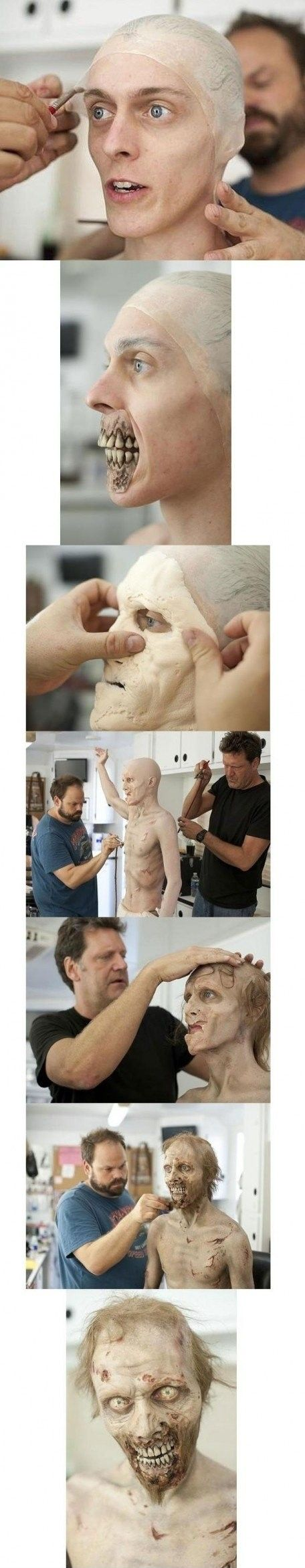 The Making Of a Walking Dead Zombie [Makeup]