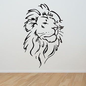 Lion Head Wall Sticker