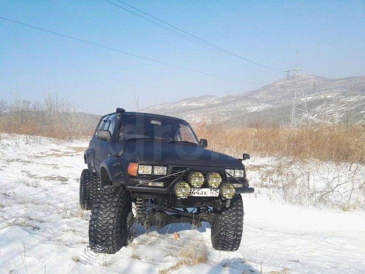 Продается Toyota Land Cruiser 1997 во Владивостоке, Водительское и пассажирское кресла - Recaro с электроприводами, обмен на более дешевую, черный, бензин, джип (suv)