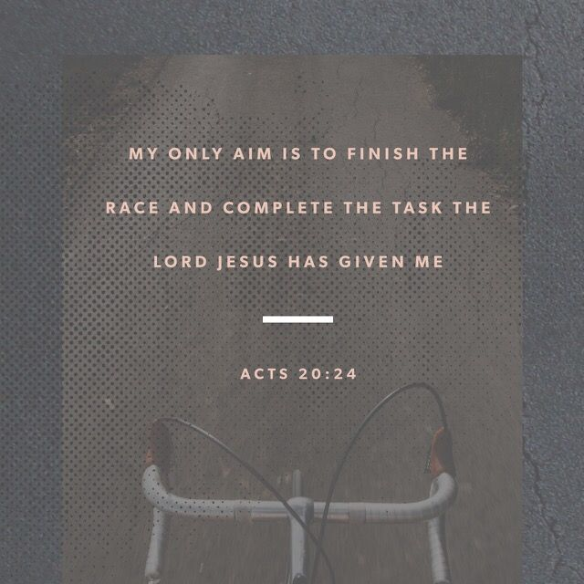 """""""But my life is worth nothing to me unless I use it for finishing the work assigned me by the Lord Jesus—the work of telling others the Good News about the wonderful grace of God."""" Acts of the Apostles 20:24 NLT"""