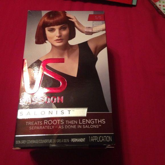 New hair dye Brand new Vidal Sassoon medium reddish brown hair dye. Vidal sassoon  Other