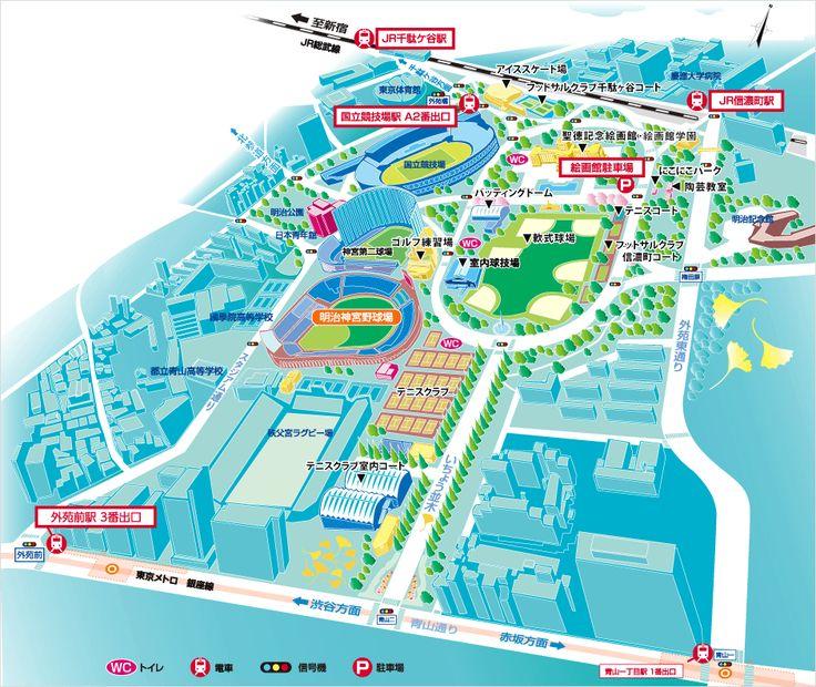 アクセスマップ(電車を利用)   アクセス・駐車場   明治神宮野球場