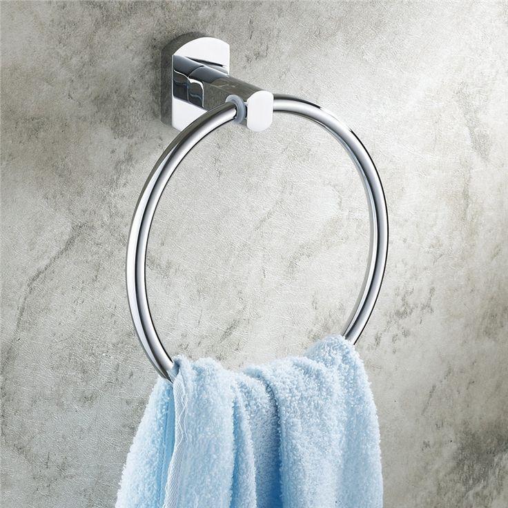 浴室タオルリング タオル掛け タオル収納 壁掛けハンガー バスアクセサリー クロム EB2W2490