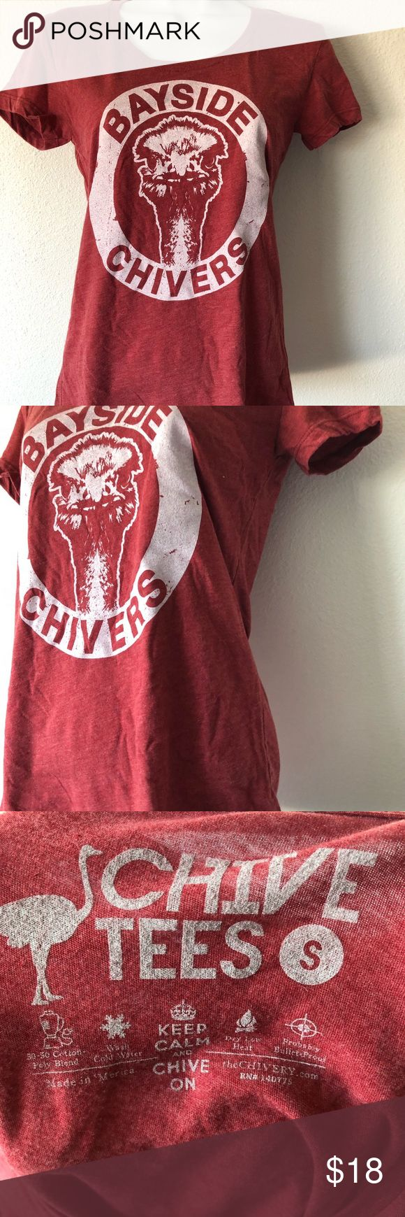 The bayside chives ostrich t shirt sz small nwot The chive small burgundy T-shirt ostrich new without  tags sold out the chivery Tops Tees - Short Sleeve