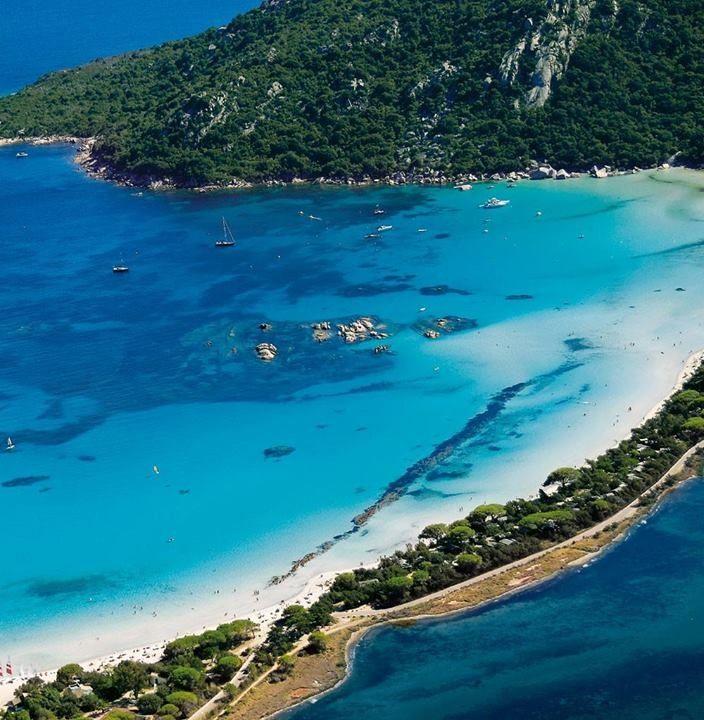Spiaggia di Marinella, Ajaccio, Corsica. End of stage 2, 2013 Tour de France...looks amazing!