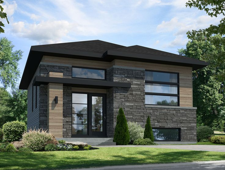 Contemporary Starter Home - 80793PM | 1st Floor Master Suite, 2nd Floor Master Suite, CAD Available, Canadian, Contemporary, Den-Office-Library-Study, Loft, Metric, Modern, PDF | Architectural Designs