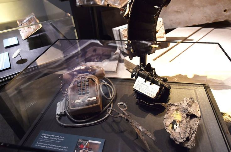 Inside the 9/11 Museum- Real reminders Detail of objects found after the September 11, 2001 attack on the Pentagon.