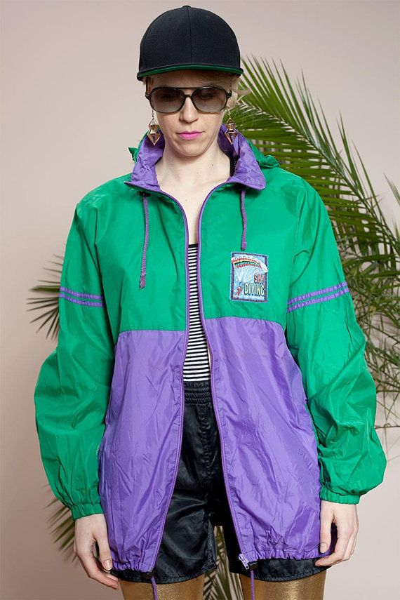 Anorak jacketVintage windbreaker90s Colorblock