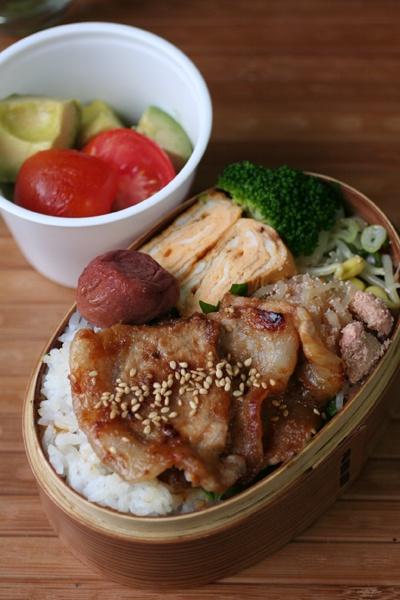2012.08.10 豚の味噌焼き弁当