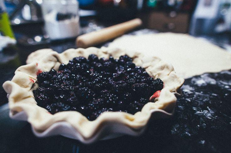 Blueberry blackberry pie