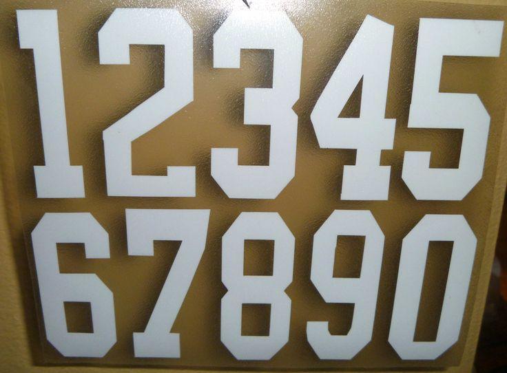 Full size helmet number decals for alabama helmets 3
