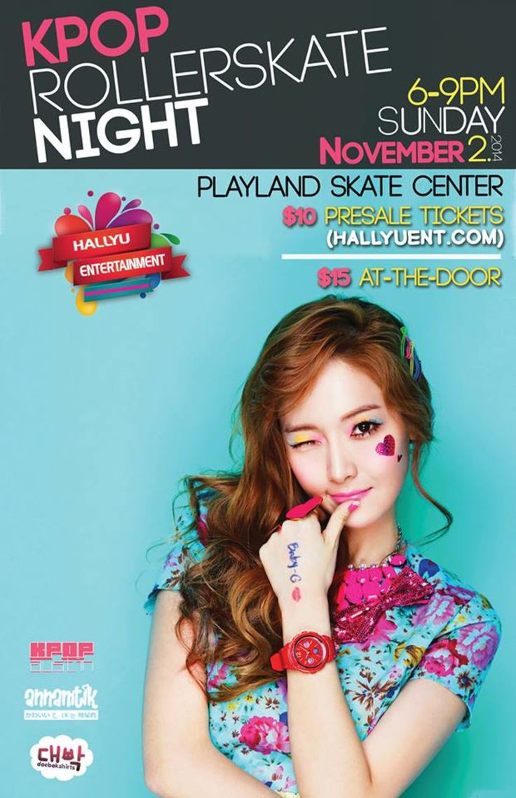 Check out K-Pop Roller Skate Night at Playland Skate Center in Austin on November 02, 2014 and get detailed info for the event - tickets, photos, video and reviews.