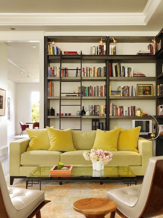Mellow Yellow Sofa For The Cool Living Room And Library Vibrant Trend: 25  Colorful Sofas To Rejuvenate Your Living Room Part 57