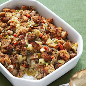Apple-Sausage Stuffing (via Parents.com)