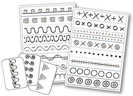Bandes et cartes graphiques à télécharger et imprimer pour se faire un répertoire graphique