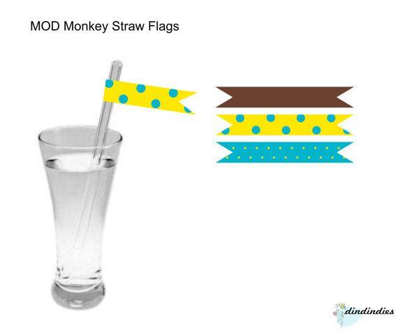 Bandiere di paglia stampabile MOD scimmia