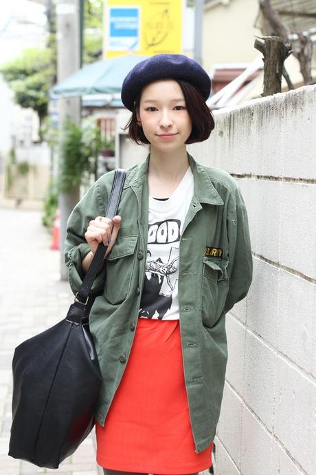 Yuki Mori wearing CA4LA, CASIO, G.V.G.V, and vintage pieces in Harajuku   Fashionsnap.com