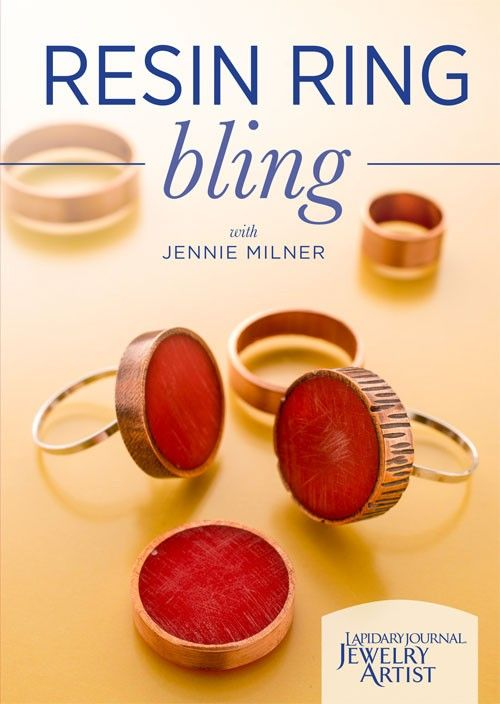 You'll love this if:    You are  looking for an easy metalsmithing project that incorporates resin.    You want  to add a pop of color to your ring designs without using gemstones