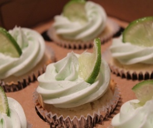 Tuesday, February 22nd is National Margarita day and the Boozy Bakeshop feels it is a matter of civic duty and national pride to help us celebrate with margarita cupcakes.  I'm in!!!!!