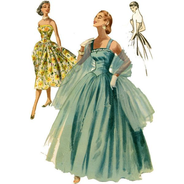 1950s Evening Dress Pattern McCalls 3399 Misses Full Skirt Ball Gown... ($68) ❤ liked on PolyvoreDress Patterns, Dresses Pattern, Full Skirts, Vintage Sewing Patterns, Evening Dresses, Ball Gowns, 1950S, Mccall 3399, Pattern Mccall