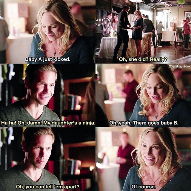 """#TVD 7x11 """"Things We Lost in the Fire"""" - Caroline and Alaric"""