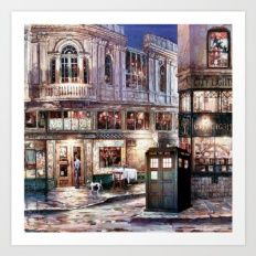 Tardis in The Old Town Art Print