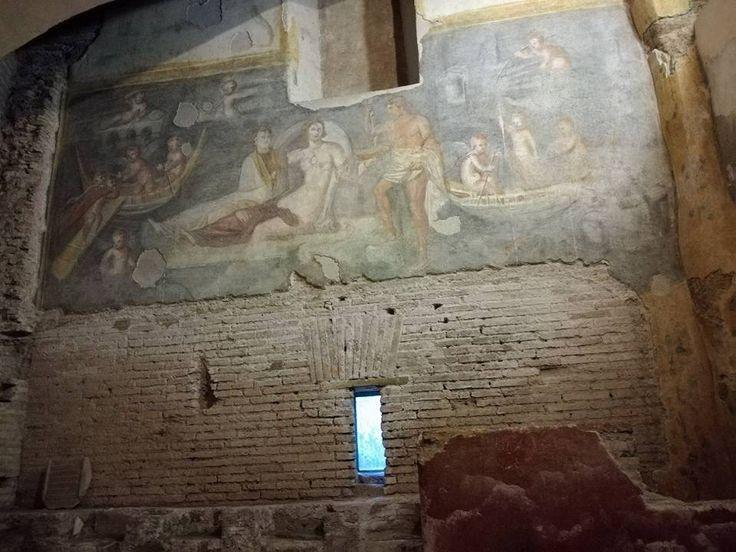 Roma. Case romane al Celi. Il ninfeo.