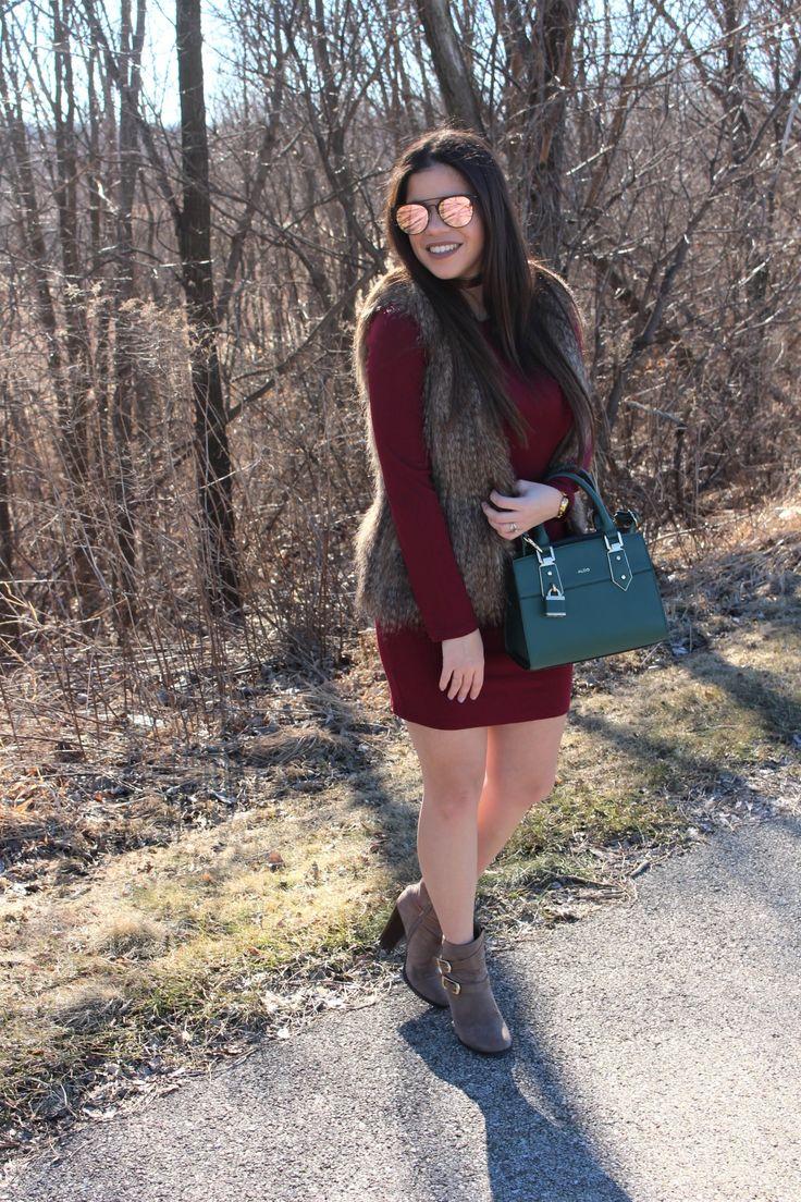 Burgundy dress! ootd by Alejandra Avila