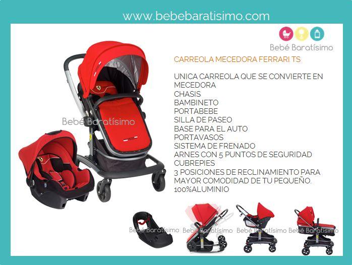 Carreola Ferrari Ts carreola y mecedora, distinción de carreola, entra www.bebebaratisimo.com