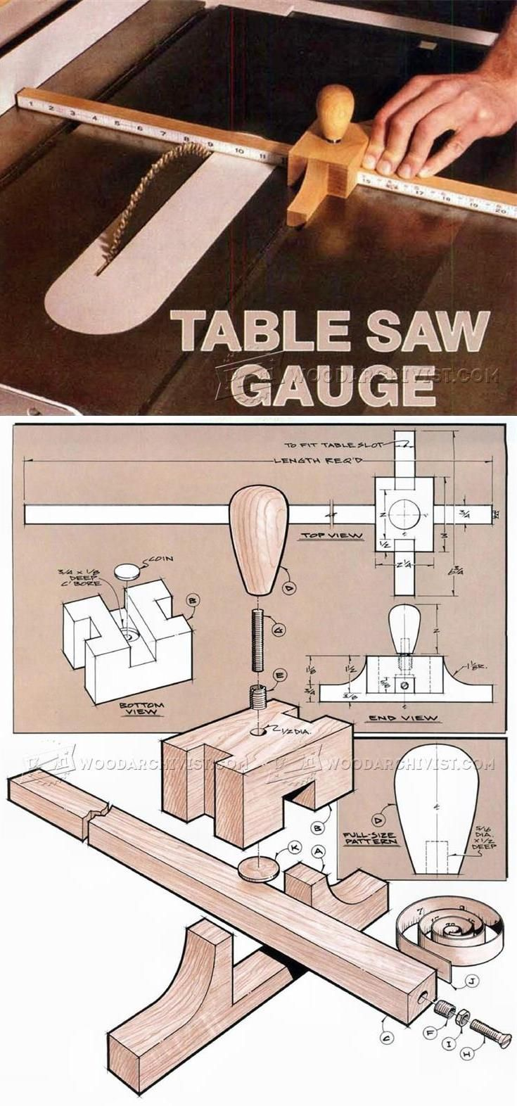 DIY Table Saw Gauge - Marking Tips, Jigs and Techniques   WoodArchivist.com