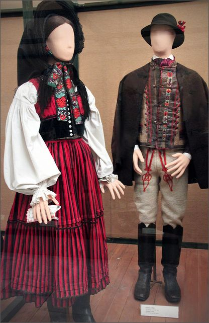 Székely couple, Csik county, late 19th century