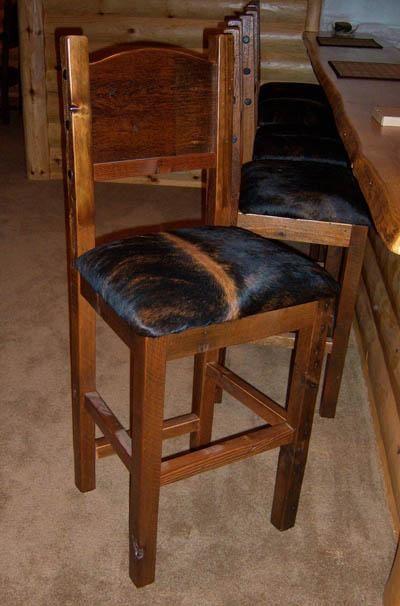 Rustic Wood Bar Stools ~ Rustic redwood bar stools burl wood pub tables custom