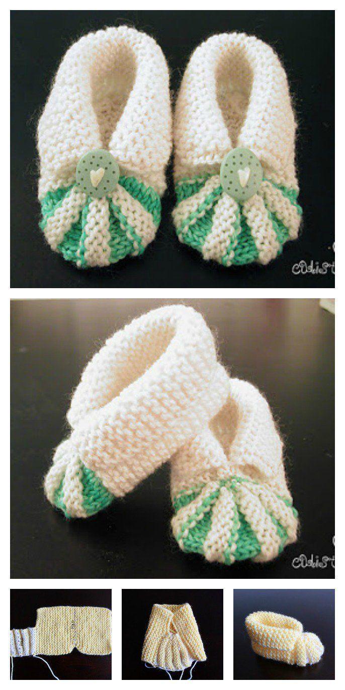 Einfache und nette Baby-strickende Beuten geben Muster frei