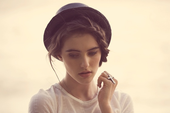 braid and hat.