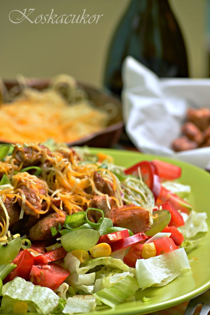BBQ csirkemell saláta