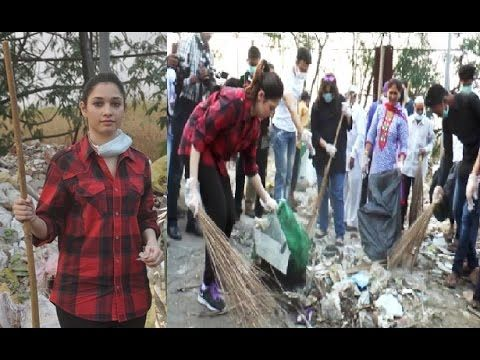Tamannaah Bhatia takes up the Swachh Bharat Abhiyan.