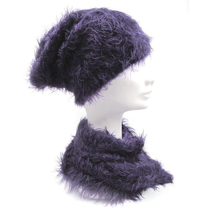 Donna Cuffia Cappello sciarpa M.V.MAGLIERIA VENETA Tinta unita 1226 | eBay